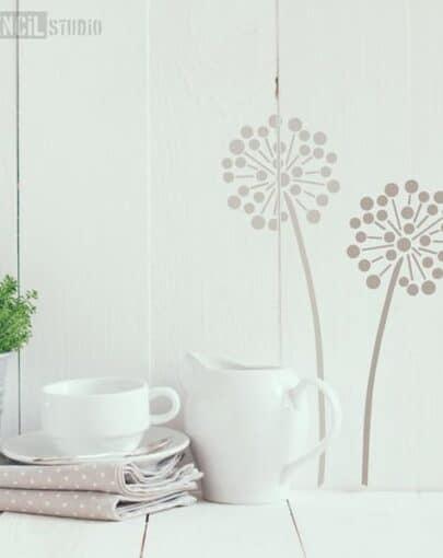 10003S-D_allium_Flower_Stencil