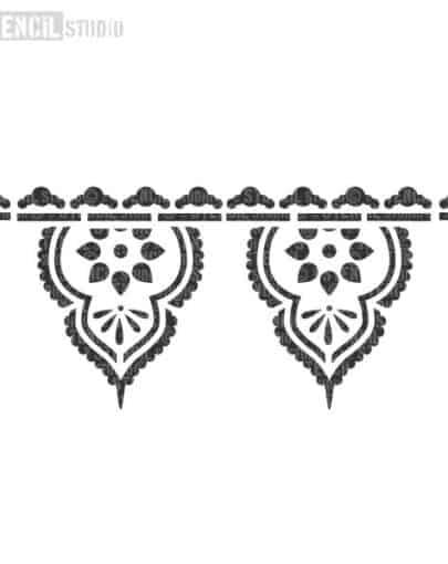 10697-TAJ-INDIAN-BORDER-STENCIL
